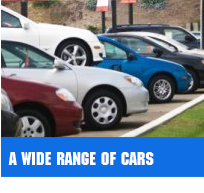 A WIDE RANGE OF CARS